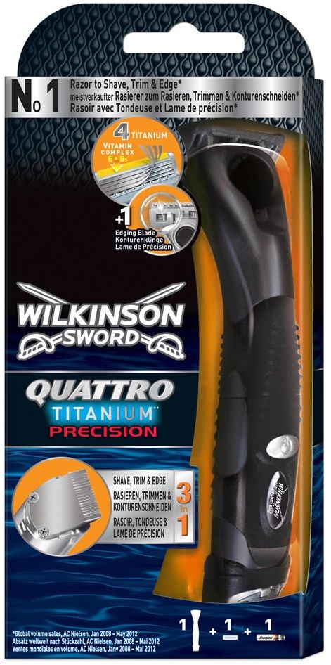Foto Wilkinson Sword Quattro Titanium Precision 3 in 1  - Scheerapparaat / Trimmer / Precisie