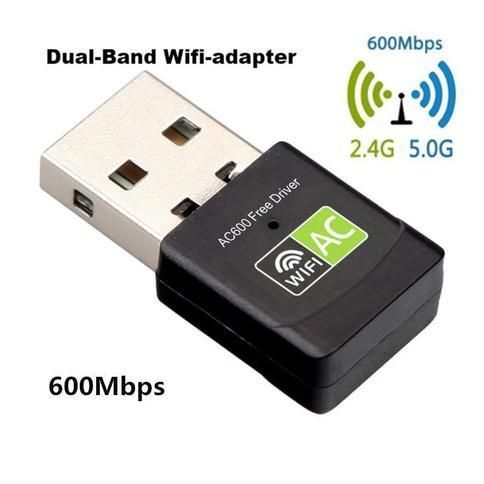 Foto 600 MBPS Dual band USB Wifi Adapter - Super snel internet - Probleemloos streamen