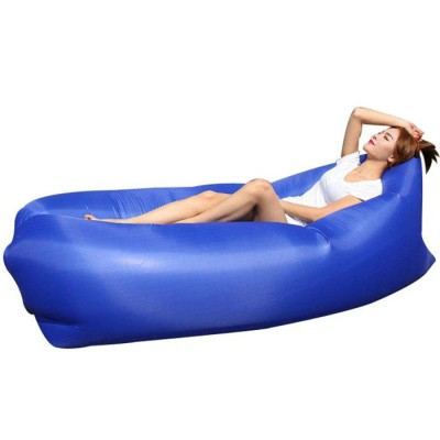 Foto Outdoor Travel Lazy Sofa Fast Air Inflatable Sleeping Bed Lounger