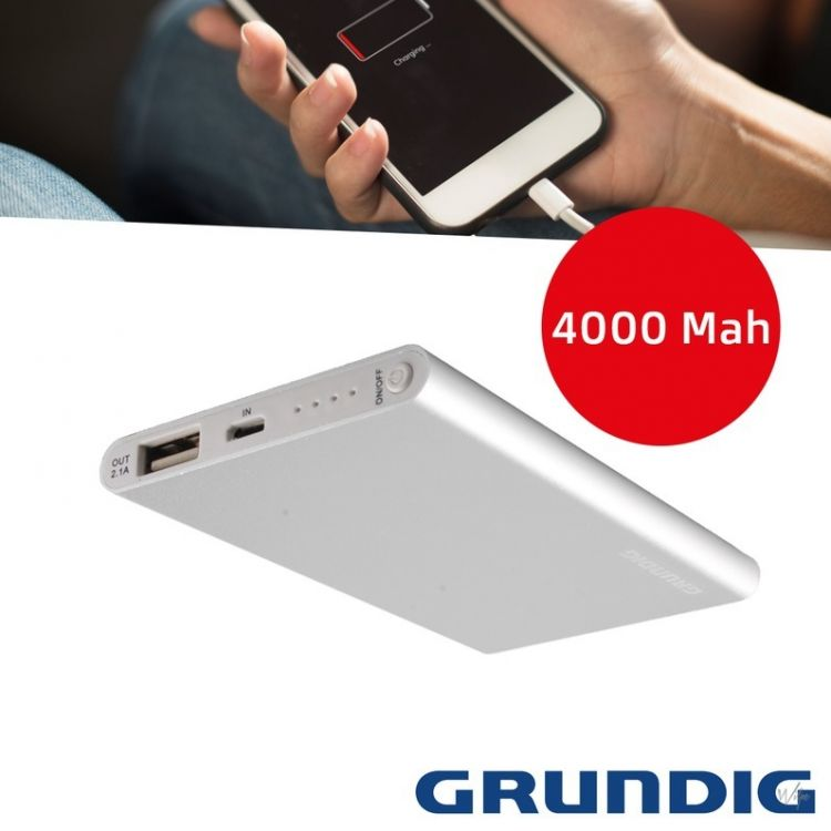 Foto Grundig Powerbank Slim MT 4000 mAh