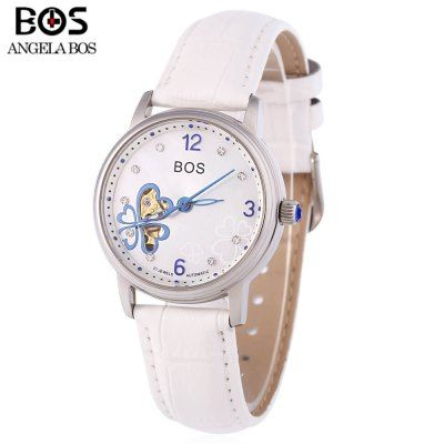 Foto Angela Bos 9003 Automatic Wind 10ATM DAmes Horloge