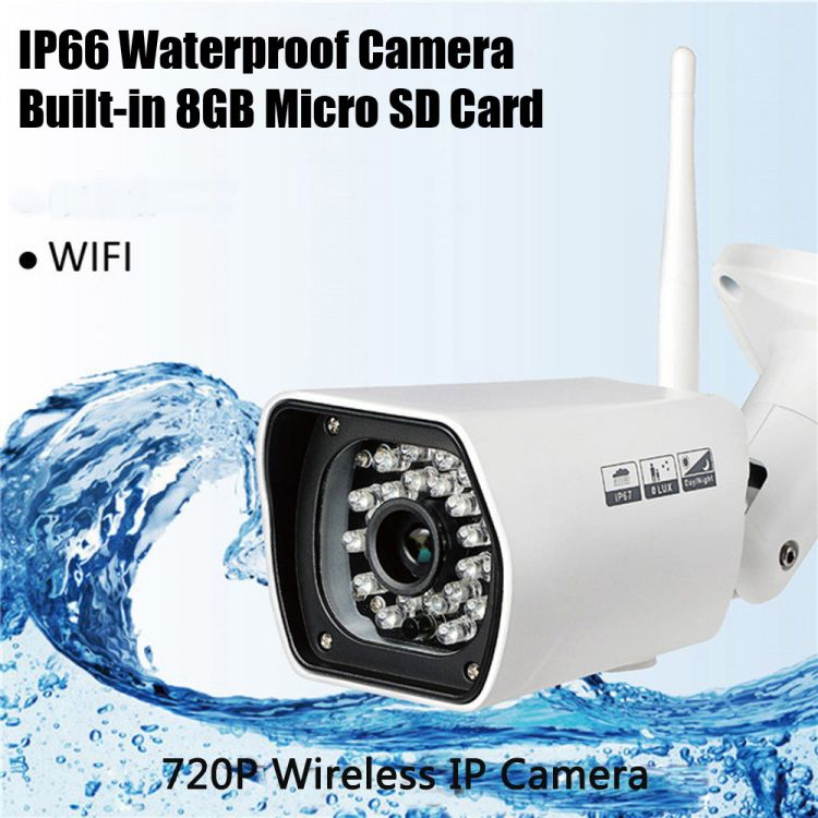 Foto Outdoor 8GB IP66 720p IP Camera Night Vision IR Cut en meer