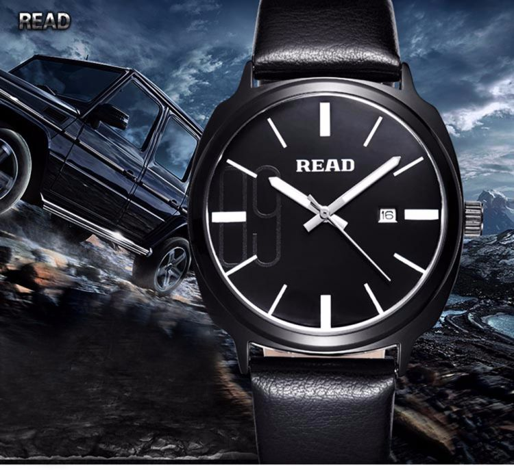 Foto READ Switzerland Quartz Date-Time Herenhorloge met 3 ATM