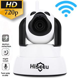 Foto WiFi 720P IP Camera met Night Vision & Pan-Tilt functie