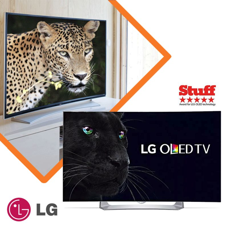 "LG Curved 55"" OLED HD Smart TV afbeelding"