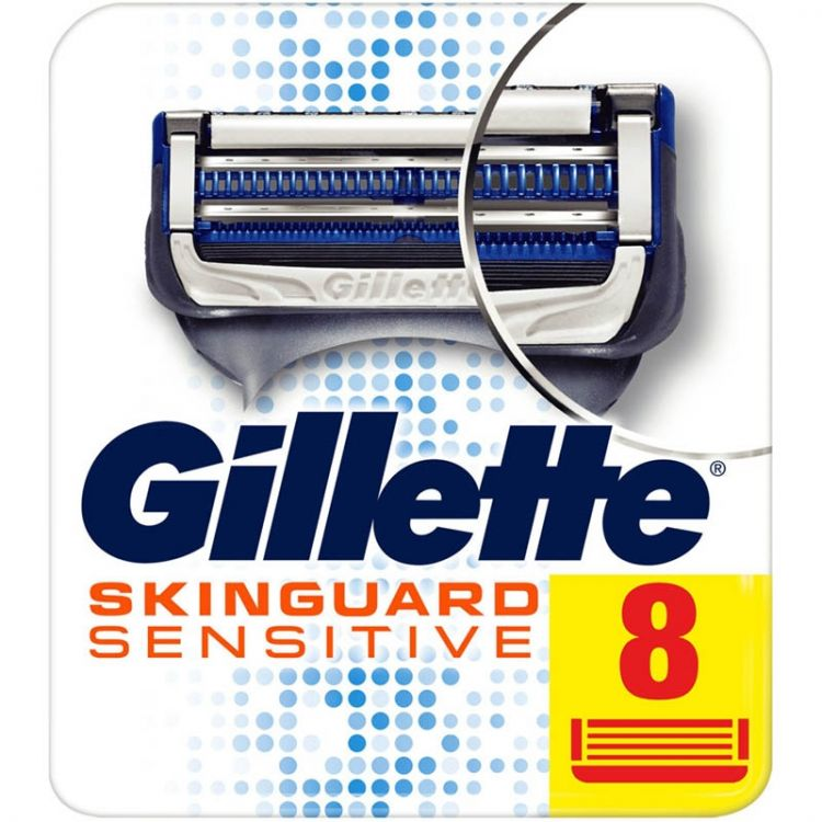 Foto Gillette SkinGuard Sensitive Scheermesjes 8 Stuks