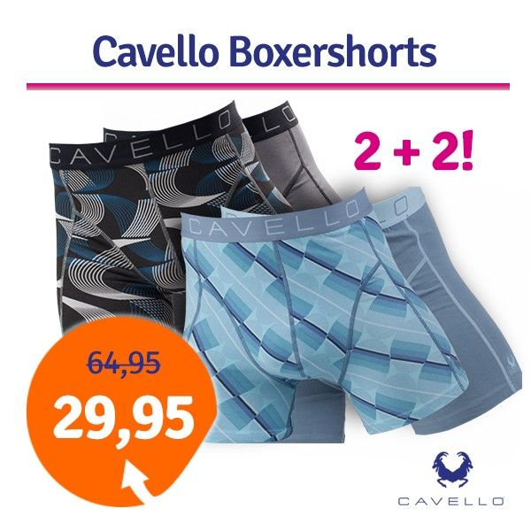 Foto Dagaanbieding Cavello boxershorts Elips and Waves 4-pack