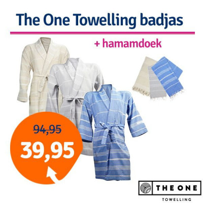 Foto Dagaanbieding The One Towelling Hamam badjas + Hamamdoek
