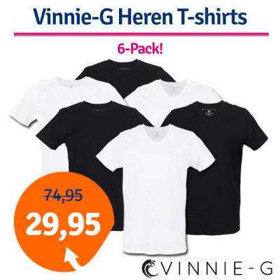 Foto Dagaanbieding Vinnie-G Heren T-shirts 6-pack