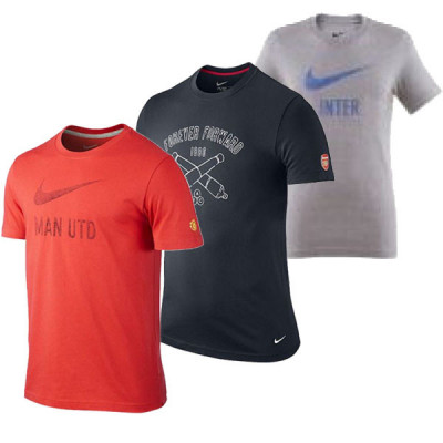 Foto Nike shirts voetbalclubs print