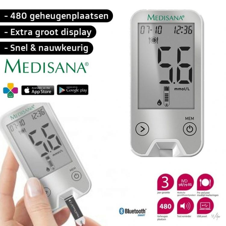 Foto Medisana Bloedglucosemeter Meditouch 2 Connect